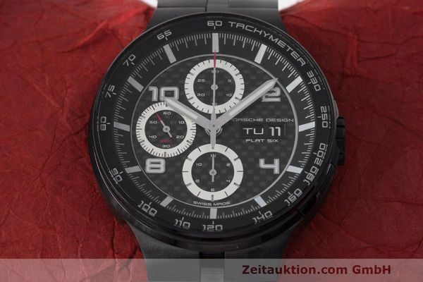 Used luxury watch Porsche Design Flat Six chronograph steel automatic Kal. ETA 7750 Ref. 6360.43  | 162293 14