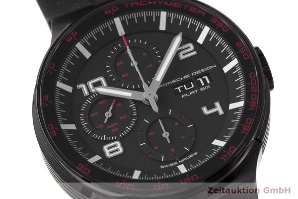 Used luxury watch Porsche Design Flat Six chronograph steel automatic Kal. ETA 7750 Ref. 6360.43  | 162295 02