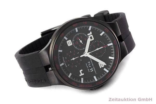 Used luxury watch Porsche Design Flat Six chronograph steel automatic Kal. ETA 7750 Ref. 6360.43  | 162295 03