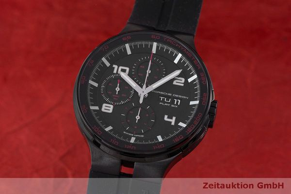 Used luxury watch Porsche Design Flat Six chronograph steel automatic Kal. ETA 7750 Ref. 6360.43  | 162295 04