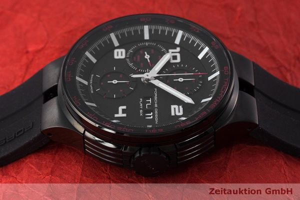Used luxury watch Porsche Design Flat Six chronograph steel automatic Kal. ETA 7750 Ref. 6360.43  | 162295 05