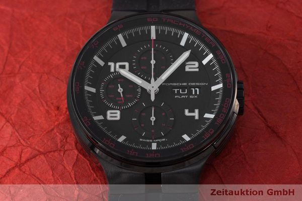 Used luxury watch Porsche Design Flat Six chronograph steel automatic Kal. ETA 7750 Ref. 6360.43  | 162295 15