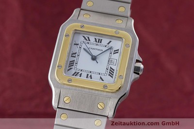CARTIER SANTOS STEEL / GOLD AUTOMATIC KAL. ETA 2671 LP: 7100EUR [162318]