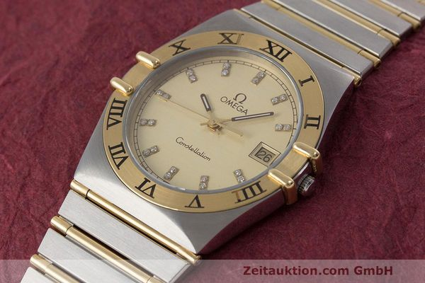 Used luxury watch Omega Constellation steel / gold quartz Kal. 1441  | 162320 01