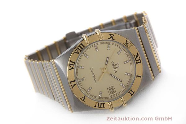 Used luxury watch Omega Constellation steel / gold quartz Kal. 1441  | 162320 03