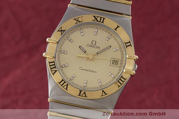 Used luxury watch Omega Constellation steel / gold quartz Kal. 1441  | 162320 04