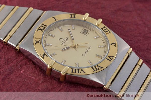 Used luxury watch Omega Constellation steel / gold quartz Kal. 1441  | 162320 13