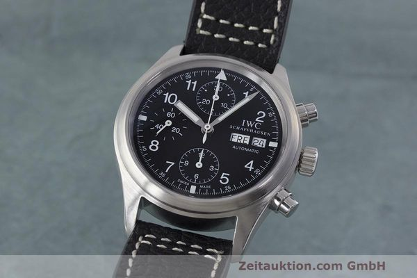 Used luxury watch IWC Fliegerchronograph chronograph steel automatic Kal. 7922 Ref. 3706  | 162325 04
