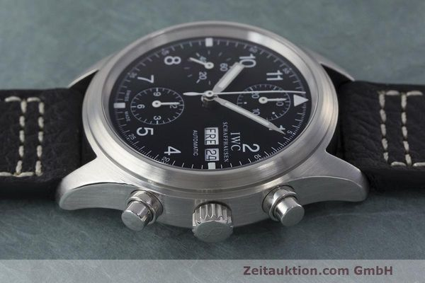 Used luxury watch IWC Fliegerchronograph chronograph steel automatic Kal. 7922 Ref. 3706  | 162325 05