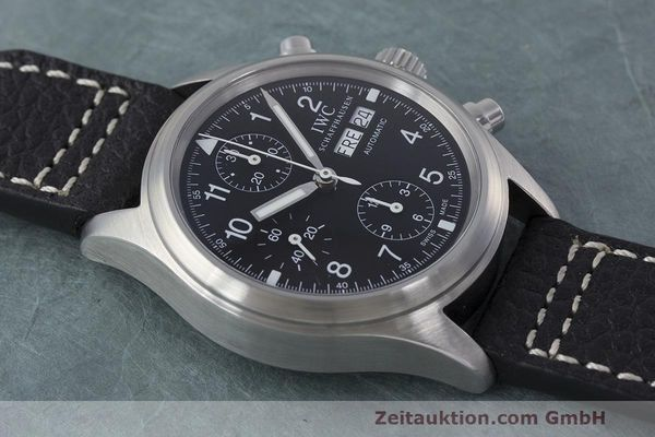 Used luxury watch IWC Fliegerchronograph chronograph steel automatic Kal. 7922 Ref. 3706  | 162325 14