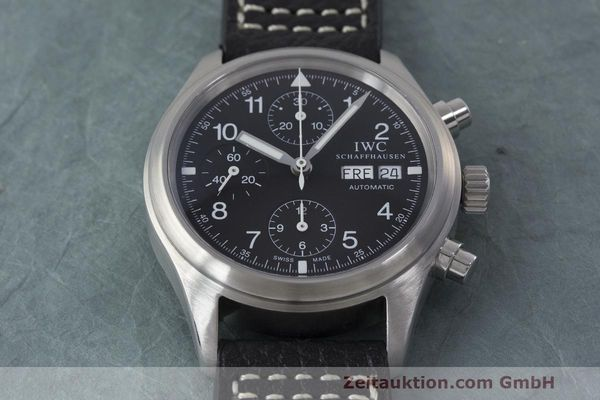 Used luxury watch IWC Fliegerchronograph chronograph steel automatic Kal. 7922 Ref. 3706  | 162325 15