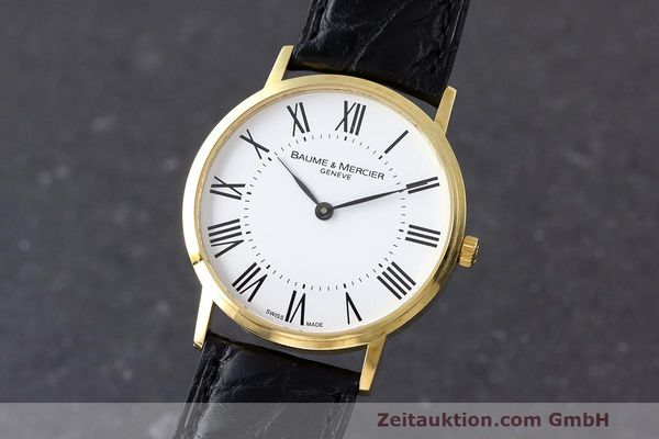 BAUME & MERCIER CLASSIMA 18K (0,750) RONDE GOLD HERRENUHR MEDIUM [162330]