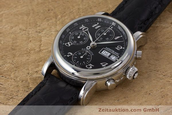 Used luxury watch Montblanc Meisterstück chronograph steel automatic Kal. 4810 501 Ref. 7016  | 162333 01