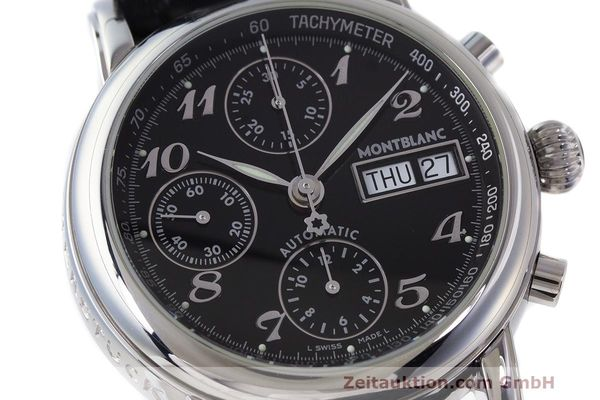 Used luxury watch Montblanc Meisterstück chronograph steel automatic Kal. 4810 501 Ref. 7016  | 162333 02