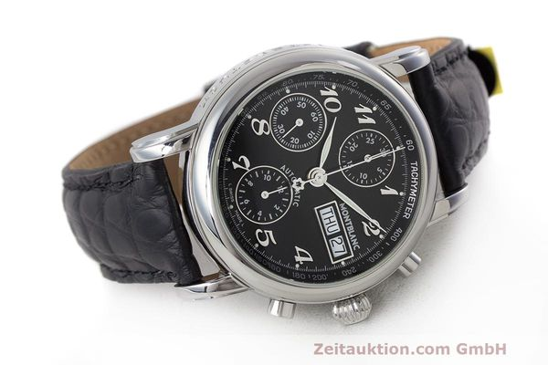 Used luxury watch Montblanc Meisterstück chronograph steel automatic Kal. 4810 501 Ref. 7016  | 162333 03