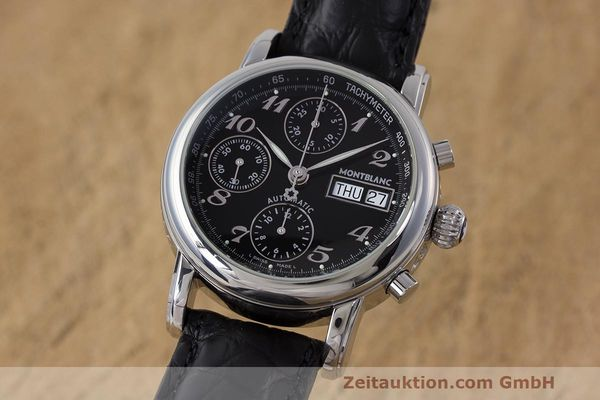 Used luxury watch Montblanc Meisterstück chronograph steel automatic Kal. 4810 501 Ref. 7016  | 162333 04