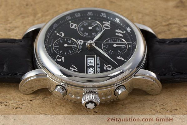Used luxury watch Montblanc Meisterstück chronograph steel automatic Kal. 4810 501 Ref. 7016  | 162333 05