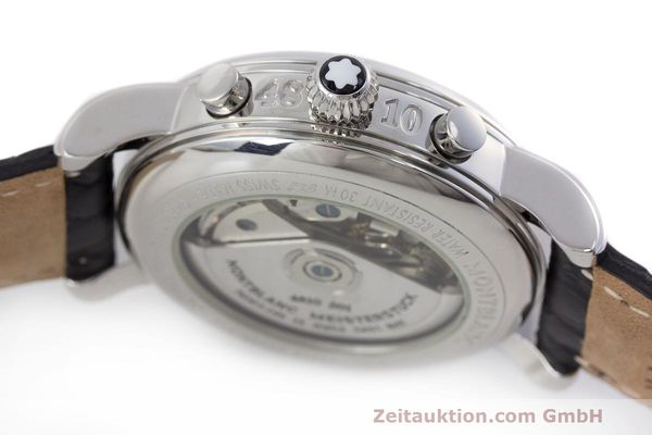 Used luxury watch Montblanc Meisterstück chronograph steel automatic Kal. 4810 501 Ref. 7016  | 162333 11