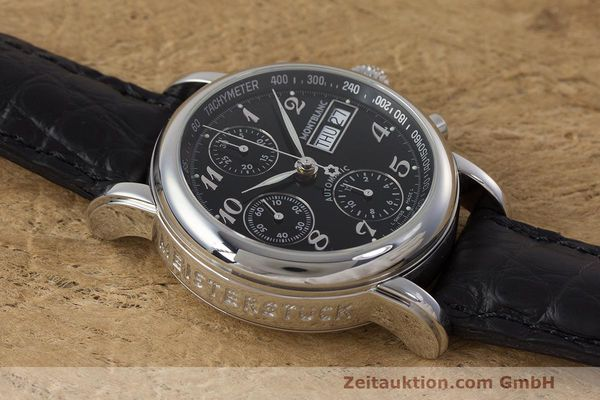 Used luxury watch Montblanc Meisterstück chronograph steel automatic Kal. 4810 501 Ref. 7016  | 162333 14