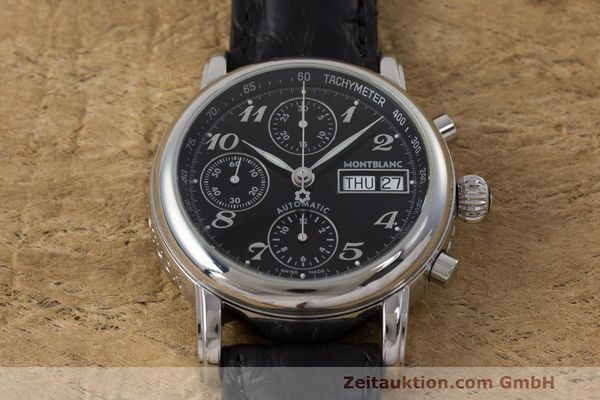 Used luxury watch Montblanc Meisterstück chronograph steel automatic Kal. 4810 501 Ref. 7016  | 162333 15