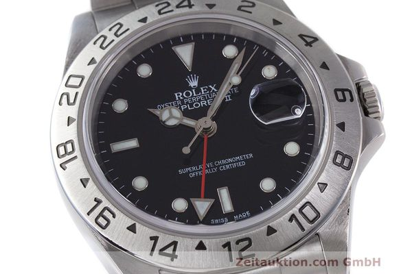 Used luxury watch Rolex Explorer II steel automatic Kal. 3185 Ref. 16570  | 162350 02