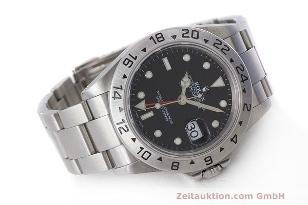 Used luxury watch Rolex Explorer II steel automatic Kal. 3185 Ref. 16570  | 162350 03