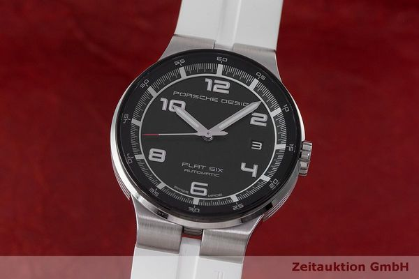 PORSCHE DESIGN FLAT SIX ACIER AUTOMATIQUE KAL. SELLITA SW200-1 LP: 2250EUR  [162352]