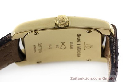 BAUME & MERCIER HAMPTON 18K GOLD DAMENUHR MV045229 KARREÉ VP: 6300,- EURO [162355]