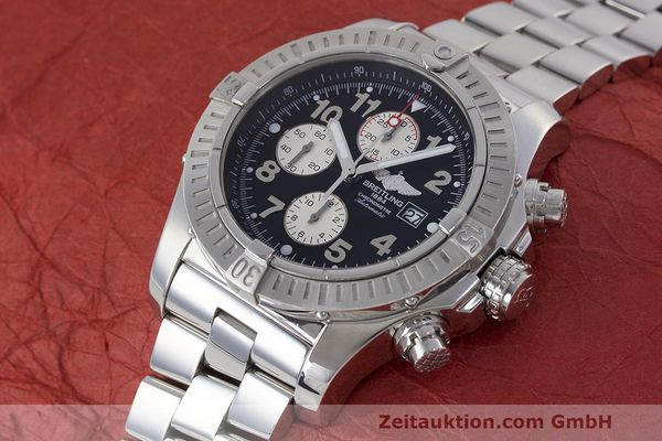 Used luxury watch Breitling Avenger chronograph steel automatic Kal. B13 ETA 7750 Ref. A13370  | 162379 01