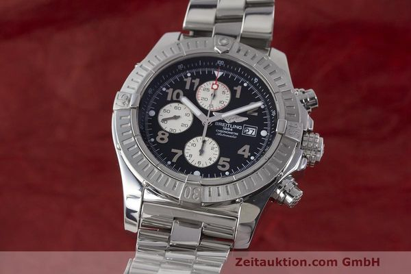 Used luxury watch Breitling Avenger chronograph steel automatic Kal. B13 ETA 7750 Ref. A13370  | 162379 04