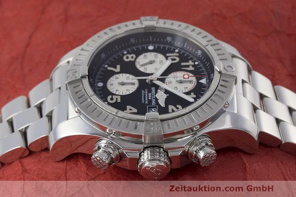 Used luxury watch Breitling Avenger chronograph steel automatic Kal. B13 ETA 7750 Ref. A13370  | 162379 05