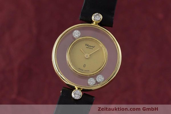 CHOPARD LADY 18K GOLD HAPPY DIAMONDS DAMENUHR DIAMANTEN REF 4049 VP: 10940,- Euro [162382]