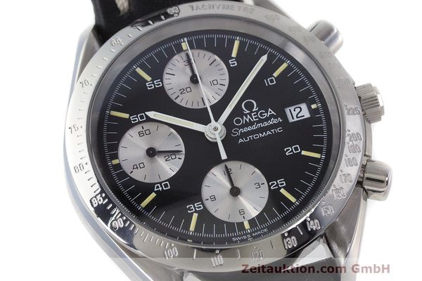 Used luxury watch Omega Speedmaster chronograph steel automatic Kal. 1155 ETA 7750 Ref. 1750043, 3750043  | 162386 02