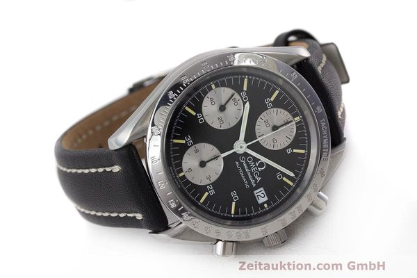 Used luxury watch Omega Speedmaster chronograph steel automatic Kal. 1155 ETA 7750 Ref. 1750043, 3750043  | 162386 03