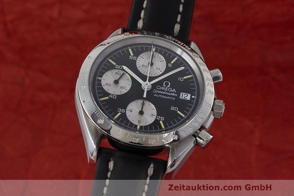 Used luxury watch Omega Speedmaster chronograph steel automatic Kal. 1155 ETA 7750 Ref. 1750043, 3750043  | 162386 04