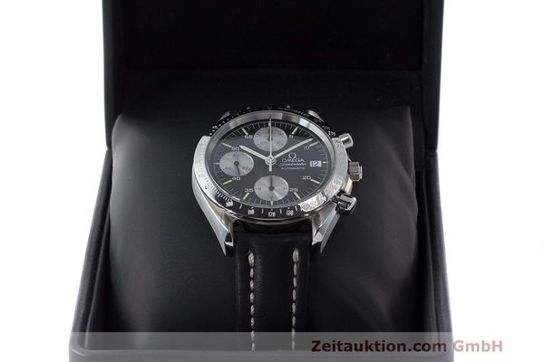 Used luxury watch Omega Speedmaster chronograph steel automatic Kal. 1155 ETA 7750 Ref. 1750043, 3750043  | 162386 07