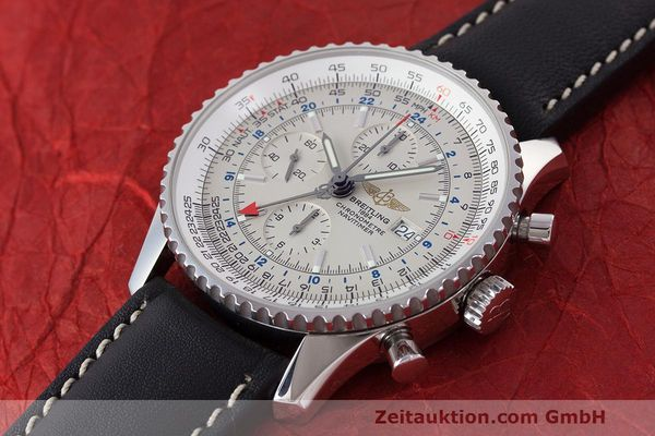 Used luxury watch Breitling Navitimer World chronograph steel automatic Kal. B24 ETA 7754 Ref. A24322  | 162391 01