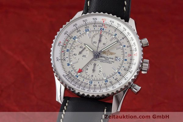 Used luxury watch Breitling Navitimer World chronograph steel automatic Kal. B24 ETA 7754 Ref. A24322  | 162391 04
