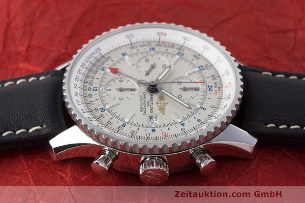 Used luxury watch Breitling Navitimer World chronograph steel automatic Kal. B24 ETA 7754 Ref. A24322  | 162391 05