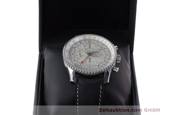 Used luxury watch Breitling Navitimer World chronograph steel automatic Kal. B24 ETA 7754 Ref. A24322  | 162391 07