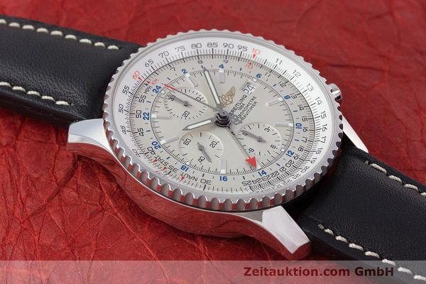 Used luxury watch Breitling Navitimer World chronograph steel automatic Kal. B24 ETA 7754 Ref. A24322  | 162391 13