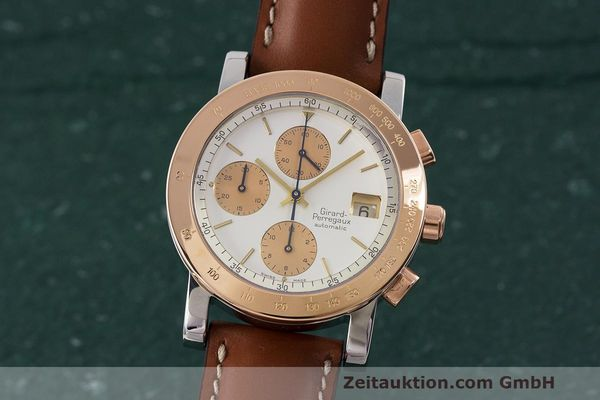 Used luxury watch Girard Perregaux 7000 chronograph steel / gold automatic Kal. 800-814 Ref. 7000  | 162392 04