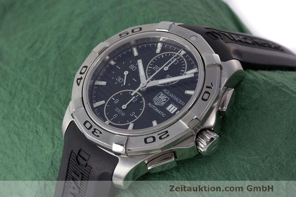 Used luxury watch Tag Heuer Aquaracer chronograph steel automatic Kal. 16 ETA 7750 Ref. CAP2110  | 162395 01