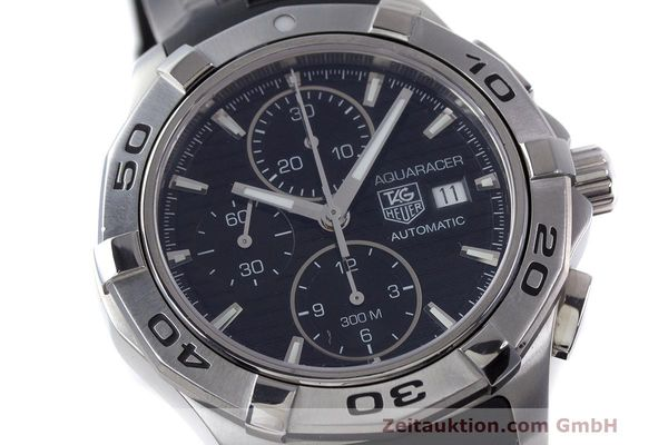 Used luxury watch Tag Heuer Aquaracer chronograph steel automatic Kal. 16 ETA 7750 Ref. CAP2110  | 162395 02