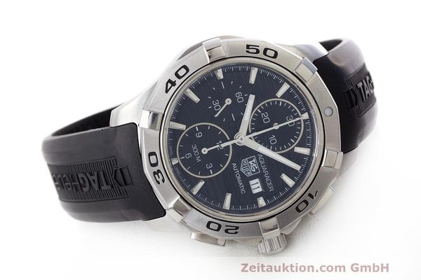 Used luxury watch Tag Heuer Aquaracer chronograph steel automatic Kal. 16 ETA 7750 Ref. CAP2110  | 162395 03