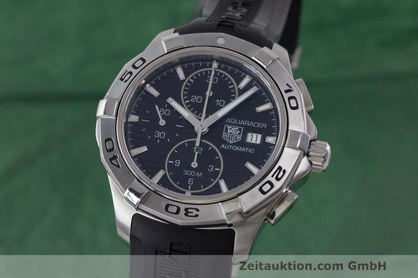 Used luxury watch Tag Heuer Aquaracer chronograph steel automatic Kal. 16 ETA 7750 Ref. CAP2110  | 162395 04