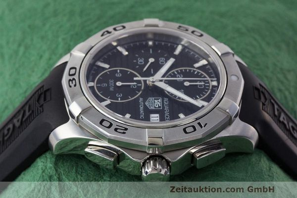 Used luxury watch Tag Heuer Aquaracer chronograph steel automatic Kal. 16 ETA 7750 Ref. CAP2110  | 162395 05