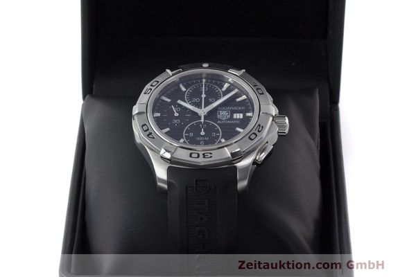Used luxury watch Tag Heuer Aquaracer chronograph steel automatic Kal. 16 ETA 7750 Ref. CAP2110  | 162395 07