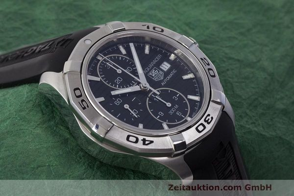 Used luxury watch Tag Heuer Aquaracer chronograph steel automatic Kal. 16 ETA 7750 Ref. CAP2110  | 162395 14