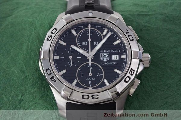 Used luxury watch Tag Heuer Aquaracer chronograph steel automatic Kal. 16 ETA 7750 Ref. CAP2110  | 162395 15